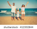 happy family having fun on the... | Shutterstock . vector #412332844