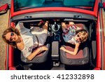 happy family travel by car.... | Shutterstock . vector #412332898