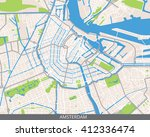 vector color map of amsterdam ... | Shutterstock .eps vector #412336474