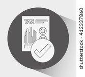 tax time design  | Shutterstock .eps vector #412337860