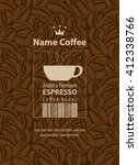design label for coffee beans... | Shutterstock .eps vector #412338766