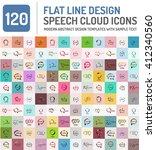 mega set of line design speech... | Shutterstock .eps vector #412340560