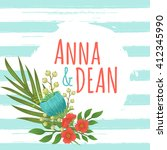 save the date vintage card...   Shutterstock .eps vector #412345990