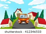 man driving car in the... | Shutterstock .eps vector #412346533