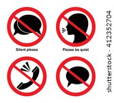 no talking signs vector icon...