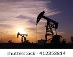 the oil rig  | Shutterstock . vector #412353814