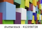 wall of multicoloured squared... | Shutterstock . vector #412358728