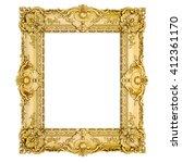 3d golden vintage classic frame ... | Shutterstock . vector #412361170
