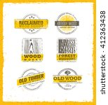 reclaimed wood design elements. ... | Shutterstock .eps vector #412363438