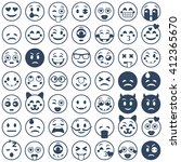 set of emoticons. set of emoji. ... | Shutterstock .eps vector #412365670
