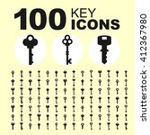Key Icon Collection. Vector...