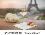 Wine Glasses And Eiffel Tower...