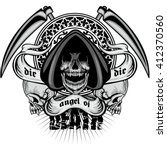 gothic coat of arms with skull  ...   Shutterstock .eps vector #412370560