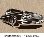 vector illustration of american ... | Shutterstock .eps vector #412381963
