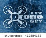 drone icon. flat symbol.... | Shutterstock . vector #412384183