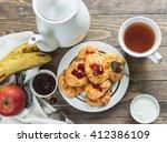 banana cheese scones for... | Shutterstock . vector #412386109