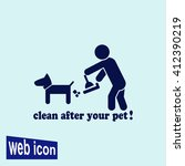 clean after pet icon.