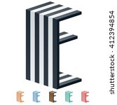 vector stripped 3d alphabet....   Shutterstock .eps vector #412394854