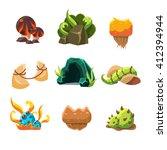video game level design... | Shutterstock .eps vector #412394944