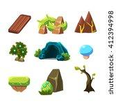 flash game level design... | Shutterstock .eps vector #412394998