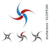 curved logo symbol design...