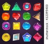 flash game design jewel set of... | Shutterstock .eps vector #412395403