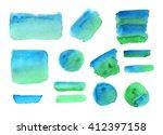 set of watercolor elements ... | Shutterstock . vector #412397158