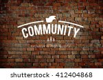 community connection network... | Shutterstock . vector #412404868