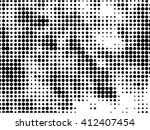 abstract dotted halftone... | Shutterstock .eps vector #412407454