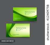 business card template set  048 ... | Shutterstock .eps vector #412409758