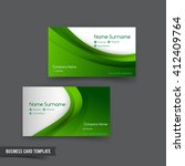 business card template set  049 ... | Shutterstock .eps vector #412409764
