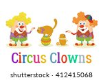 Circus Clowns With Trained...