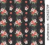 seamless vintage flower pattern  | Shutterstock .eps vector #412422739