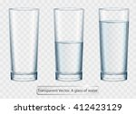 transparent vector glass of... | Shutterstock .eps vector #412423129