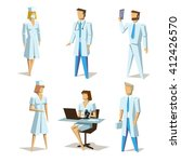 different medical staff set.... | Shutterstock .eps vector #412426570