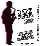 jazz blues music concert ... | Shutterstock .eps vector #412428610