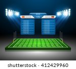 american football field  vector | Shutterstock .eps vector #412429960