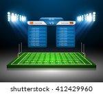 american football field  vector | Shutterstock .eps vector #412429960