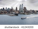 New York Skyline And Sea  Air...