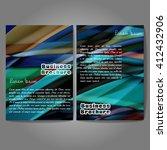 vector brochure template design ...   Shutterstock .eps vector #412432906
