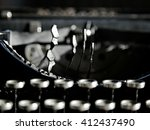 closeup photo on black vintage... | Shutterstock . vector #412437490