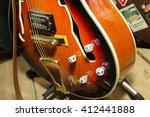 Guitar Strings Closeup. Music...