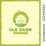 old barn local farm creative... | Shutterstock .eps vector #412442563