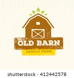 old barn local farm creative... | Shutterstock .eps vector #412442578