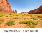 monument valley navajo tribal... | Shutterstock . vector #412443820