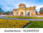 the alcala door  puerta de... | Shutterstock . vector #412445923