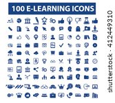 learning icons  | Shutterstock .eps vector #412449310