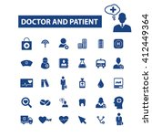 doctor and patient icons  | Shutterstock .eps vector #412449364