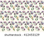 aster with leaves abstact... | Shutterstock . vector #412453129