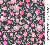 beautiful seamless floral... | Shutterstock .eps vector #412453540